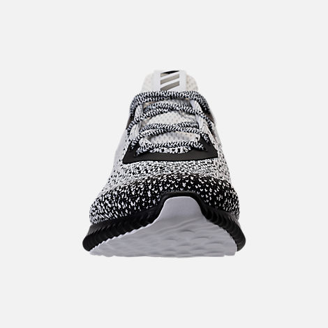 Front view of Men's adidas AlphaBounce Circular Knit Running Shoes in Core Black/Footwear White