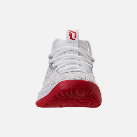 Front view of Men's adidas Dame 4 Basketball Shoes