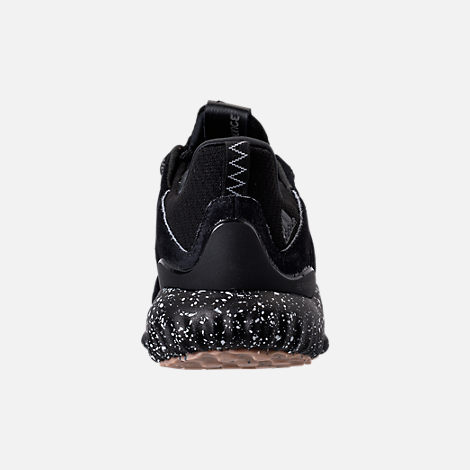Back view of Men's adidas AlphaBounce Leather Casual Shoes in Core Black/Utility Black/Footwear White