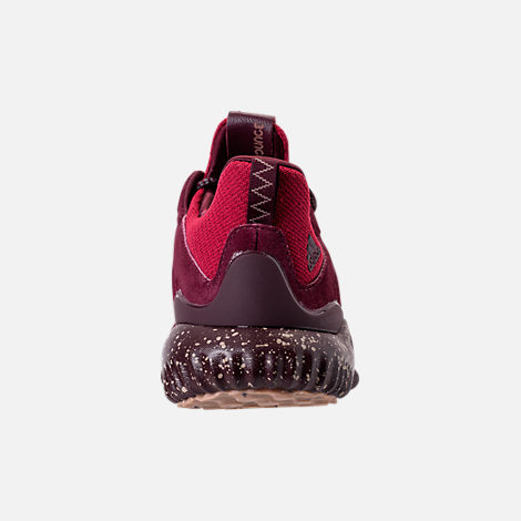 Back view of Men's adidas AlphaBounce Leather Casual Shoes in Maroon/Trace Khaki/Footwear White