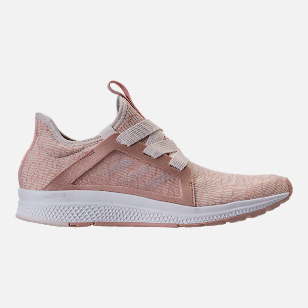Right view of Women's adidas Edge Luxe Running Shoes in Ash Pearl/White