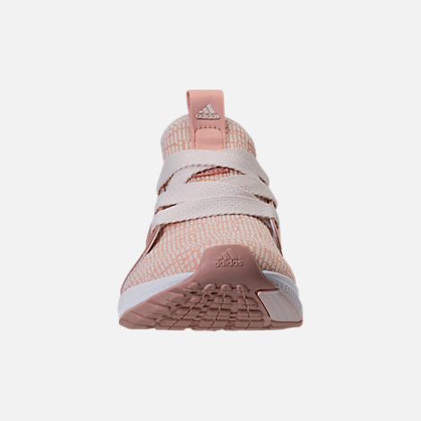 Front view of Women's adidas Edge Luxe Running Shoes in Ash Pearl/White