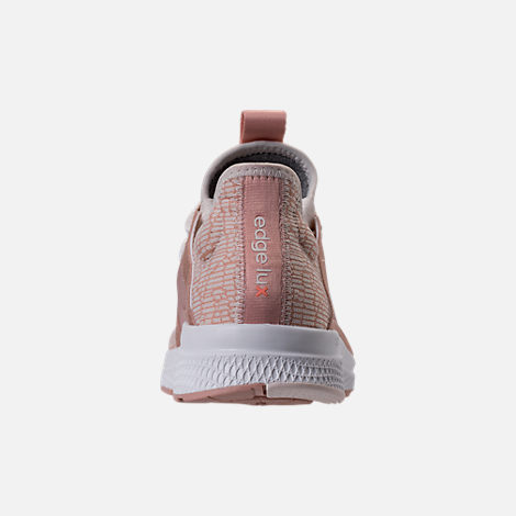 Back view of Women's adidas Edge Luxe Running Shoes in Ash Pearl/White