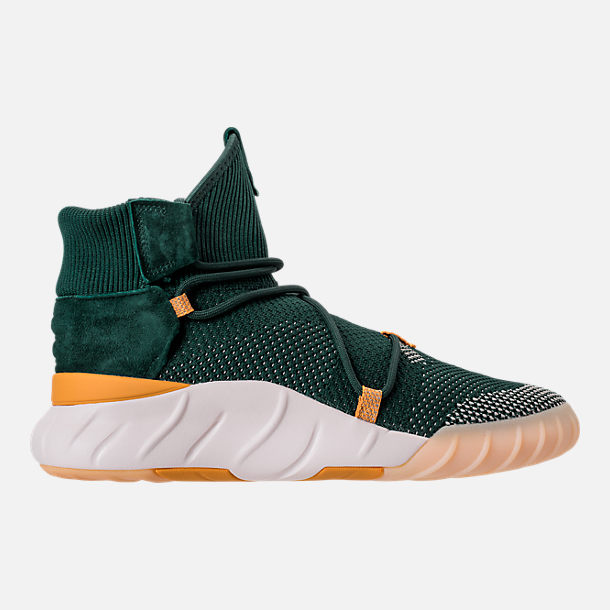 Right view of Men's adidas Originals Tubular X 2.0 Primeknit Casual Shoes in Green/Tactile Yellow/Chalk