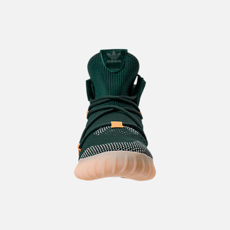 Front view of Men's adidas Originals Tubular X 2.0 Primeknit Casual Shoes in Green/Tactile Yellow/Chalk