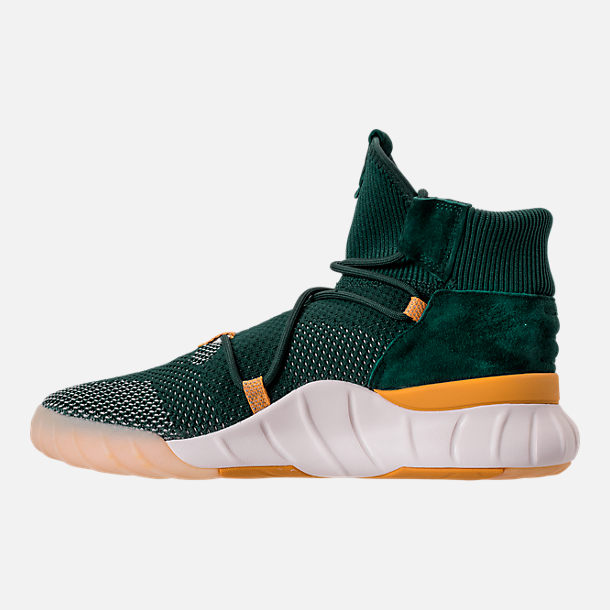 Left view of Men's adidas Originals Tubular X 2.0 Primeknit Casual Shoes in Green/Tactile Yellow/Chalk