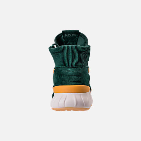 Back view of Men's adidas Originals Tubular X 2.0 Primeknit Casual Shoes in Green/Tactile Yellow/Chalk