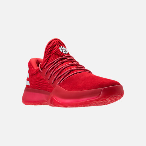 Three Quarter view of Men's adidas Harden Vol.1 Basketball Shoes