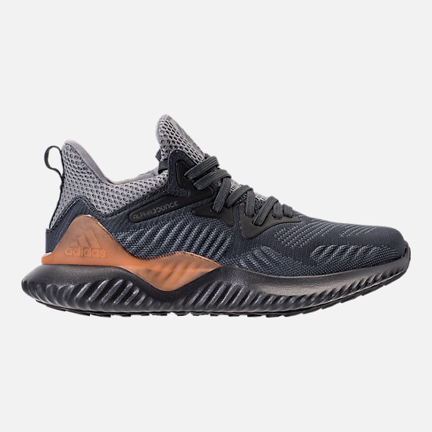 Right view of Kids' Grade School adidas AlphaBounce Beyond Running Shoes in Grey/Carbon/Solid Grey