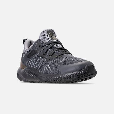 Three Quarter view of Little Kids' adidas AlphaBounce Beyond Running Shoes in Grey/Carbon/Solid Grey