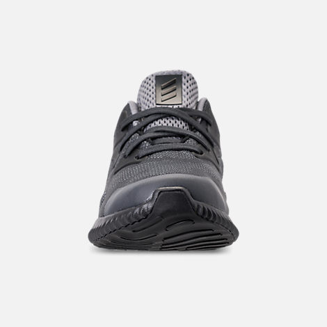 Front view of Little Kids' adidas AlphaBounce Beyond Running Shoes in Grey/Carbon/Solid Grey