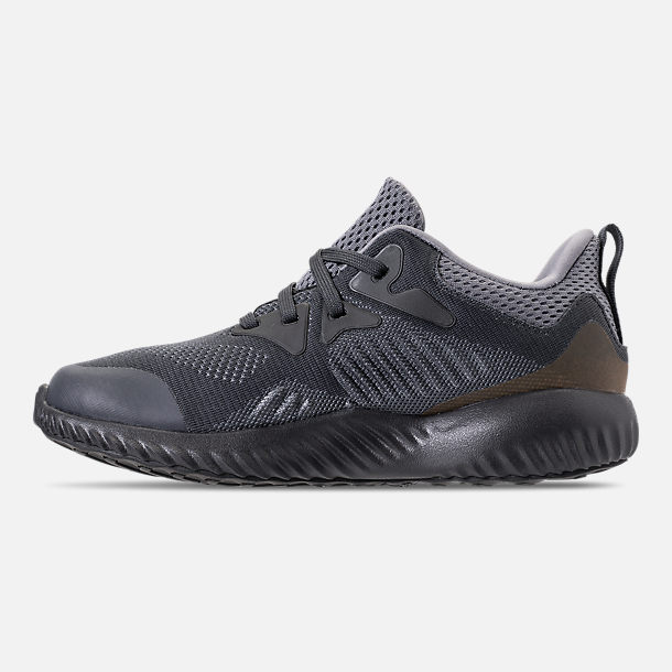 Left view of Little Kids' adidas AlphaBounce Beyond Running Shoes in Grey/Carbon/Solid Grey