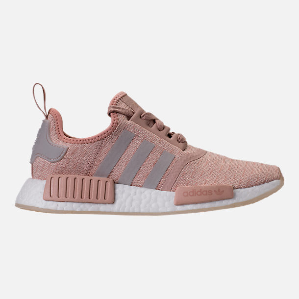 Right view of Women's adidas NMD R1 Casual Shoes in Ash Pearl/Chalk Pearl/White