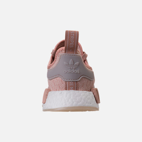 Back view of Women's adidas NMD R1 Casual Shoes in Ash Pearl/Chalk Pearl/White