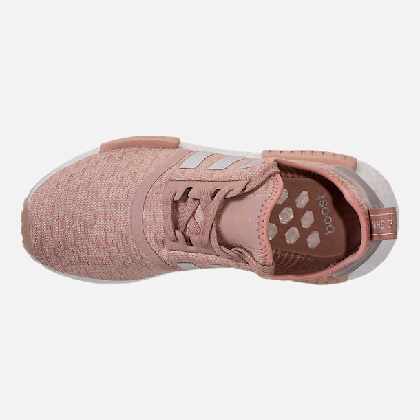 Top view of Women's adidas NMD R1 Casual Shoes in Ash Pearl/Chalk Pearl/White