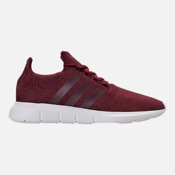 Right view of Women's adidas Swift Run Casual Shoes in Maroon/White