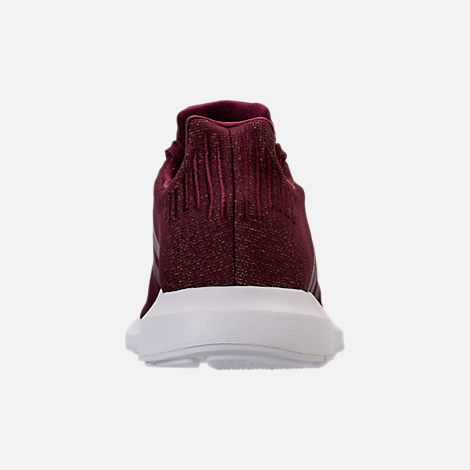 Back view of Women's adidas Swift Run Casual Shoes in Maroon/White