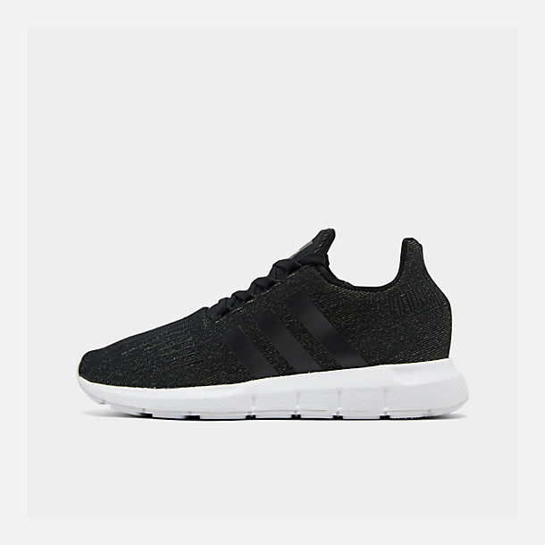 Right view of Women's adidas Swift Run Casual Shoes in Core Black/White