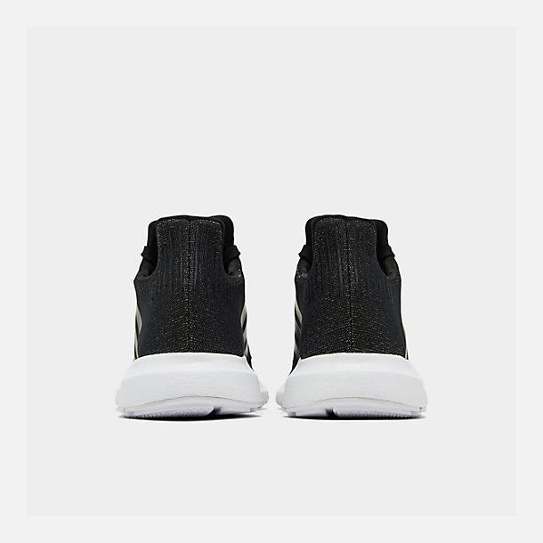 Left view of Women's adidas Swift Run Casual Shoes in Core Black/White