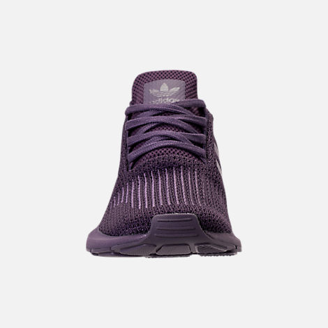 Front view of Women's adidas Swift Run Primeknit Casual Shoes in Trace Purple
