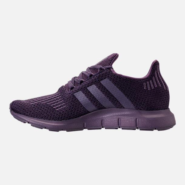 Left view of Women's adidas Swift Run Primeknit Casual Shoes in Trace Purple
