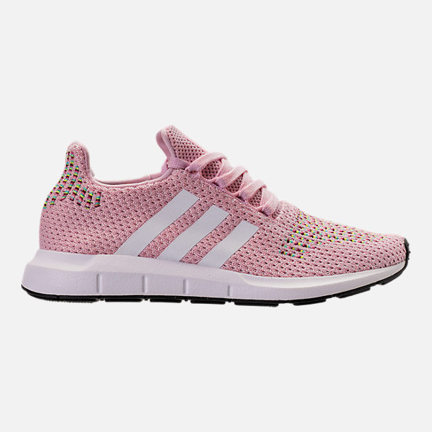 Right view of Women's adidas Swift Run Primeknit Casual Shoes in Pink/White/Black