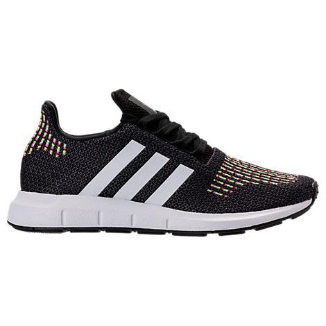 Women'S Swift Run Knit Lace Up Sneakers, Black