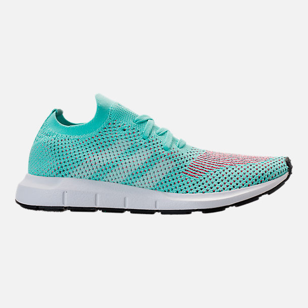 Right view of Women's adidas Swift Run Primeknit Casual Shoes in Aqua/White/Black