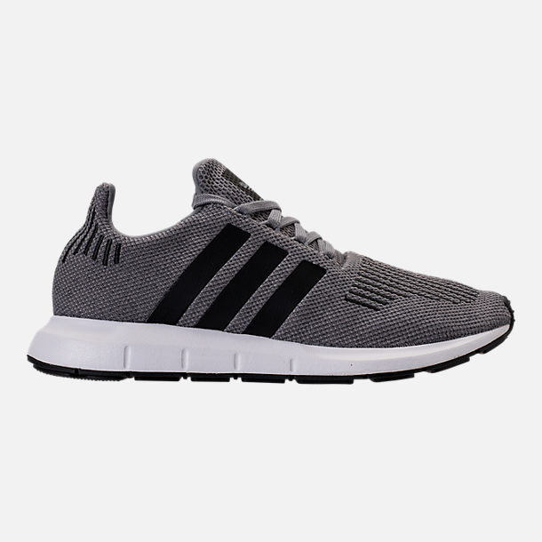Right view of Men's adidas Swift Run Running Shoes in Grey/Core Black/Metallic Grey