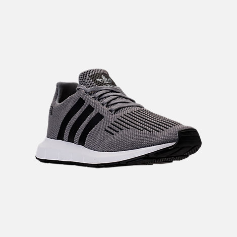 Three Quarter view of Men's adidas Swift Run Running Shoes in Grey/Core Black/Metallic Grey