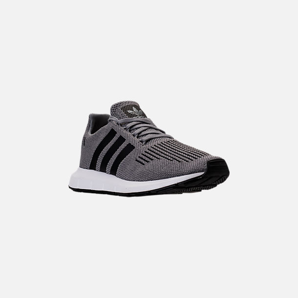 da6743c93 Three Quarter view of Men s adidas Swift Run Running Shoes in Grey Core  Black