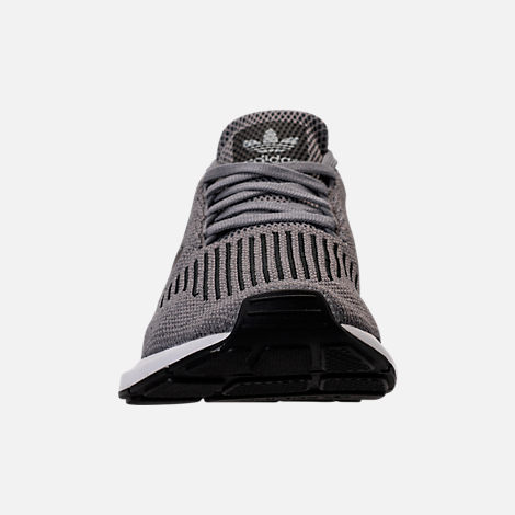 Front view of Men's adidas Swift Run Running Shoes in Grey/Core Black/Metallic Grey