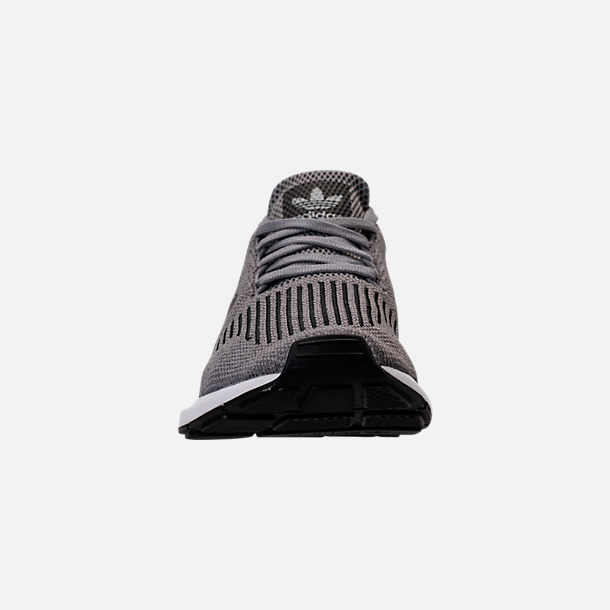 f343a373a1be2 Front view of Men s adidas Swift Run Running Shoes in Grey Core  Black Metallic