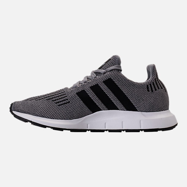 Left view of Men's adidas Swift Run Running Shoes in Grey/Core Black/Metallic Grey