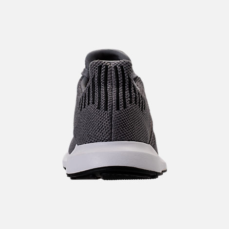 Back view of Men's adidas Swift Run Running Shoes in Grey/Core Black/Metallic Grey