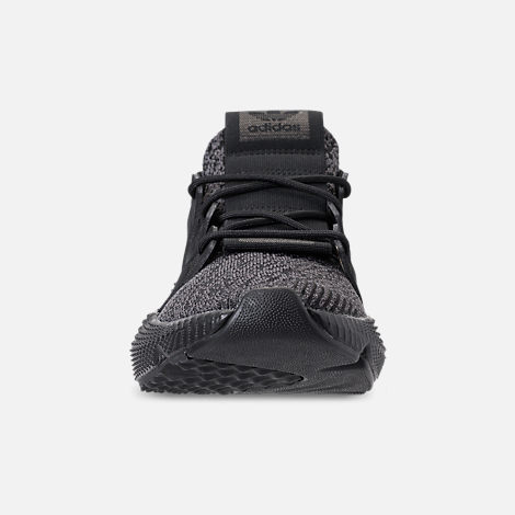 Front view of Men's adidas Originals Prophere Casual Shoes in Core Black/Solar Red