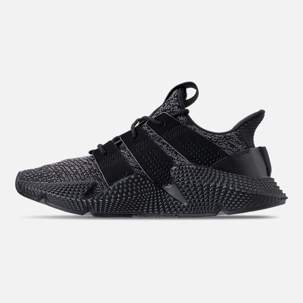 Left view of Men's adidas Originals Prophere Casual Shoes in Core Black/Solar Red