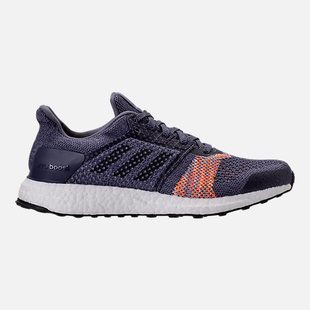 Right view of Women's adidas UltraBOOST ST Running Shoes in Raw Indigo/Noble Ink/Hi-Res Orange