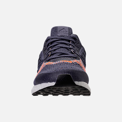 Front view of Women's adidas UltraBOOST ST Running Shoes in Raw Indigo/Noble Ink/Hi-Res Orange