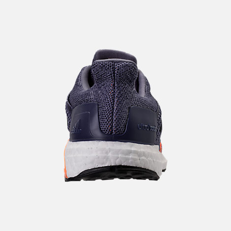 Back view of Women's adidas UltraBOOST ST Running Shoes in Raw Indigo/Noble Ink/Hi-Res Orange