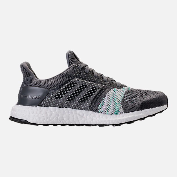 ... buy right view of womens adidas ultraboost st running shoes in crystal  white black aero 92f22 39e076612