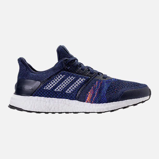 Right view of Men's adidas UltraBOOST ST Running Shoes in Noble Indigo/White/Collegiate Navy