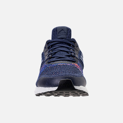 Front view of Men's adidas UltraBOOST ST Running Shoes in Noble Indigo/White/Collegiate Navy