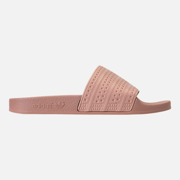 Right view of Women's adidas Adilette Slide Sandals in Ash Pearl
