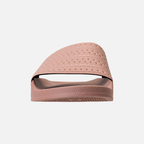 Front view of Women's adidas Adilette Slide Sandals in Ash Pearl