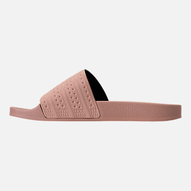 Left view of Women's adidas Adilette Slide Sandals in Ash Pearl