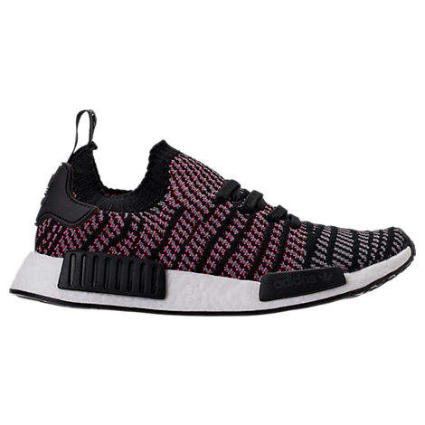 Adidas Men'S Nmd_R1 Stlt Primeknit Originals Running Shoe, Black