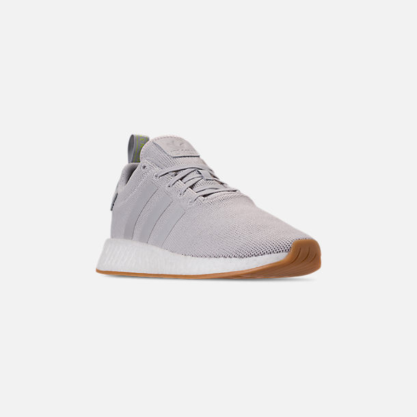 d82336d91 Three Quarter view of Men s adidas NMD R2 Casual Shoes in Grey Solar Slime