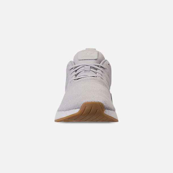 399a9ff8254c7 Front view of Men s adidas NMD R2 Casual Shoes in Grey Solar Slime