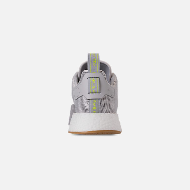 5b36ee9fb Back view of Men s adidas NMD R2 Casual Shoes in Grey Solar Slime
